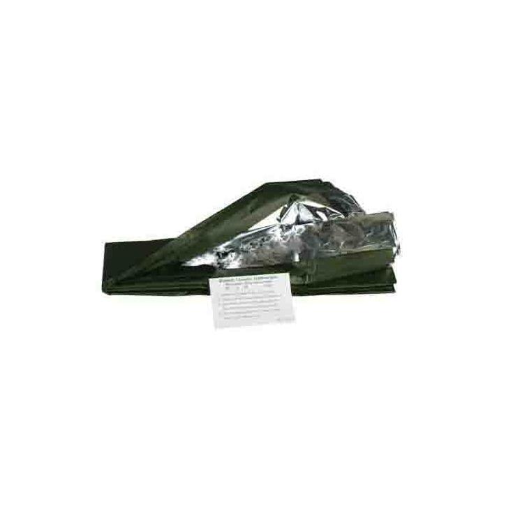 Survival-Decke - Survival Schlafsack - Silber - oliv